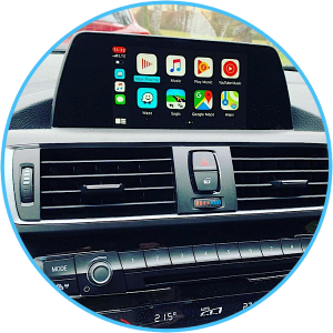 Imi-1000 retrofit CarPlay kit installed into F20