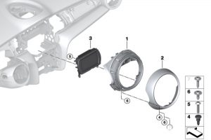 BMW mini retrofit CarPlay installation step 2
