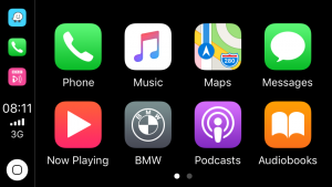 Screenshot from Integrated Automotives Retrofit CarPlay Interface