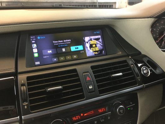 BMW E70 retrofit CarPlay and Android auto