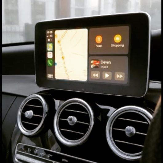 NTG5 Retrofit CarPlay and android auto kit in a Mercedes C class