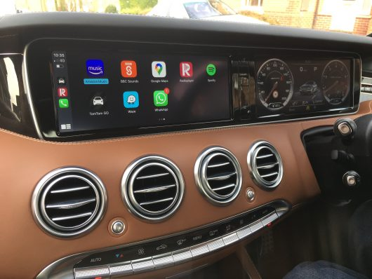 Integrated Automotive IMI-1000 installed into a W222 Mercedes S Class