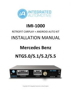 Mercedes NTG5 retrofit carplay and android auto installation manual